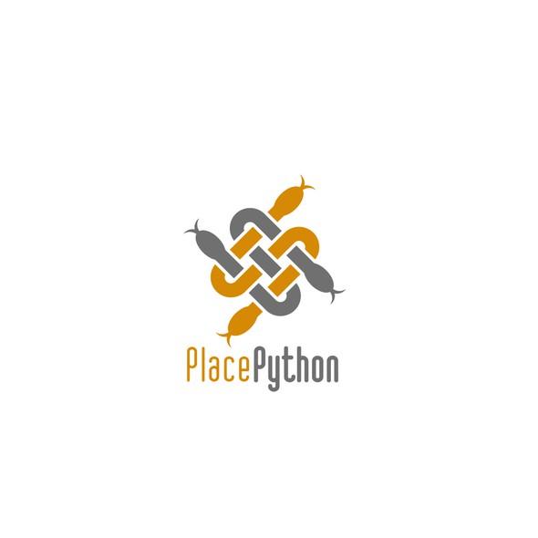 Python logo with the title 'Snake logo'