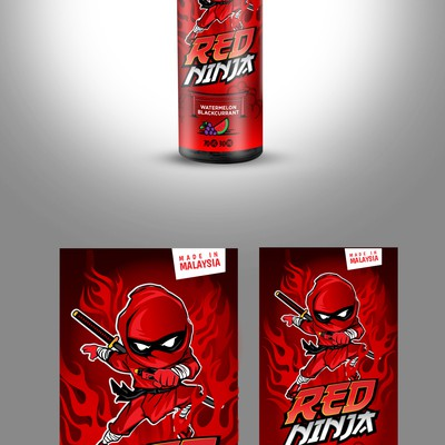 red ninja ejuice liquid