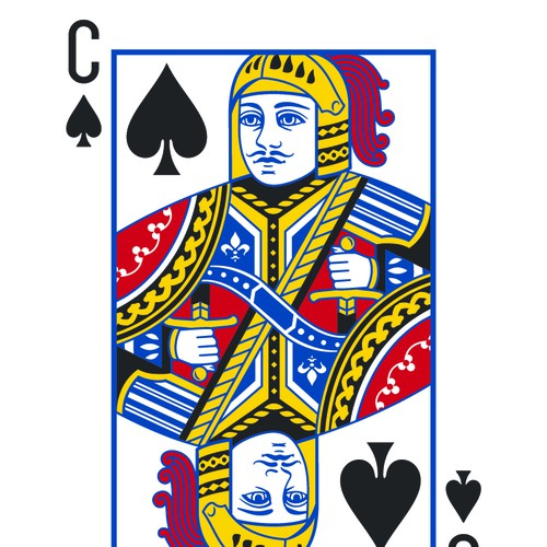 Knight illustration with the title 'Custom cards'