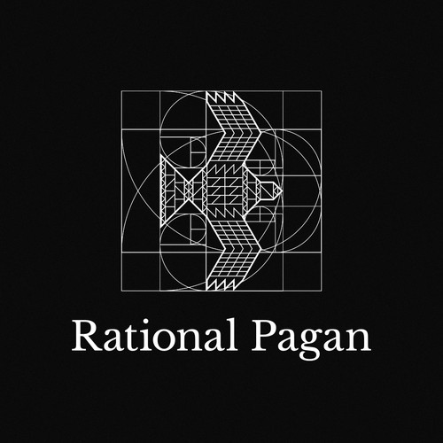 Golden ratio design with the title 'Rational Pagan'