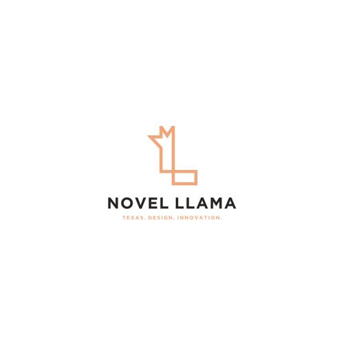 Alpaca logo with the title 'L llama logo'