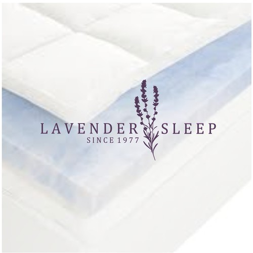Mattress logo with the title 'Lavender Sleep'