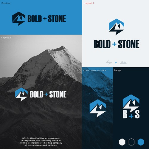 Bolt design with the title 'Bold + Stone'