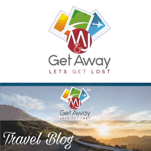 Wanderlust logo with the title 'Logo for a travel blog'
