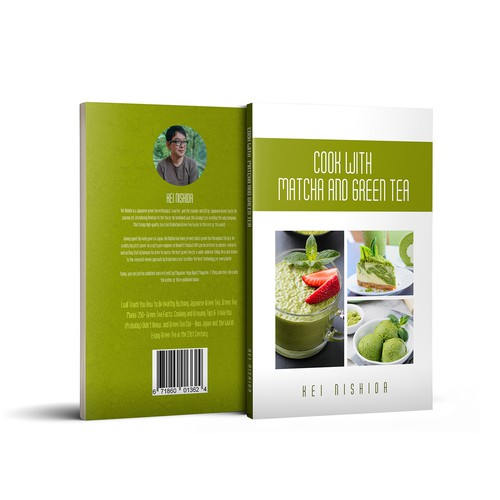 Cooking book cover with the title 'Cook with Matcha and Green Tea'