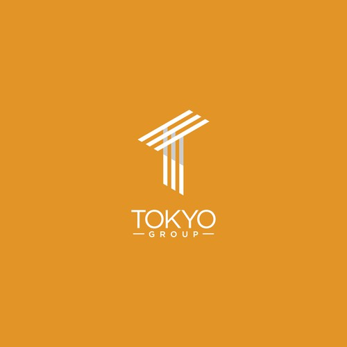 Tokyo logo with the title 'clean and geometric logo for tokyo group company'