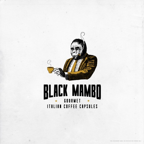Coaster logo with the title 'Design a dark, edgy & luxurious logo for Black Mambo'