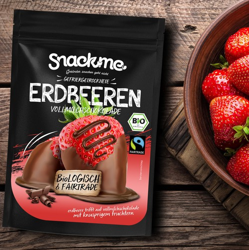 Candy packaging with the title 'Packaging for chocolate strawberries'