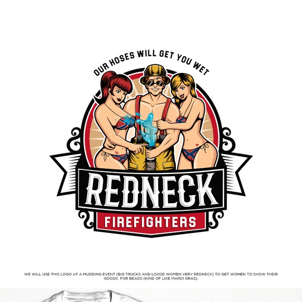Shirt logo with the title 'Redneck Firefighters'