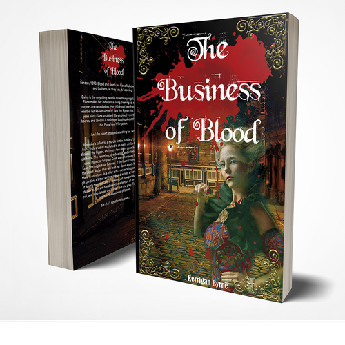 Art Deco book cover with the title 'Businees Of Blood'
