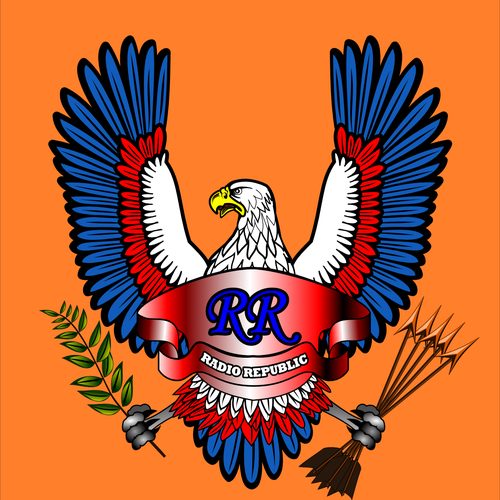 Eagle illustration with the title 'Tattoo Style Artwork Needed(Sailor Jerry Style Eagle with Crest forRock Band)'