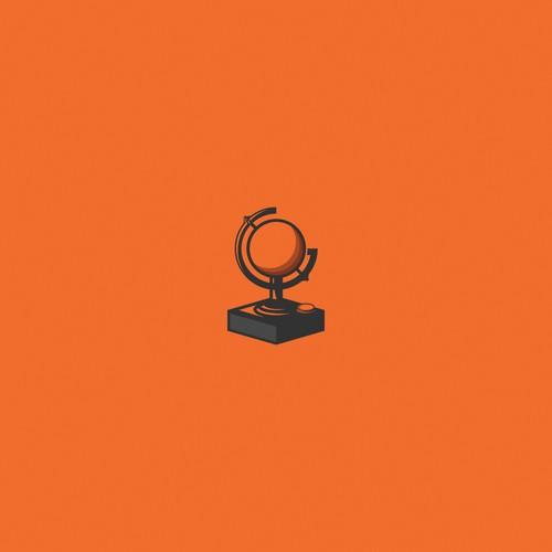 Joystick design with the title 'Joystick/Globe logo concept'