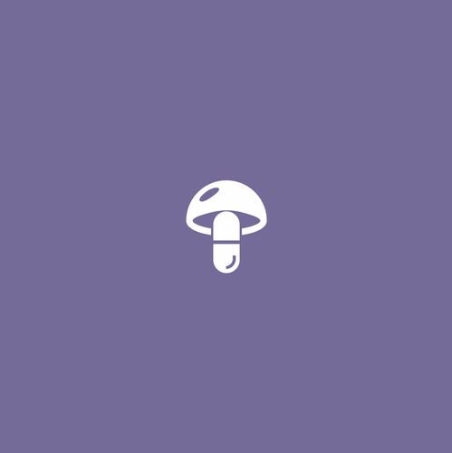 Pill logo with the title 'Medicinal Mushroom'