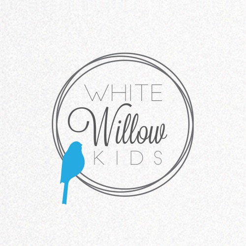 Clean design with the title 'Create an inspiring and fun identity for White Willow Kids - making kids spaces sparkle!'