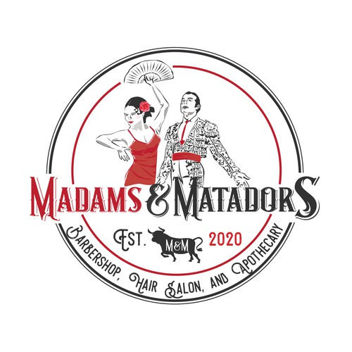 Stylist logo with the title 'Madams & Matadors'