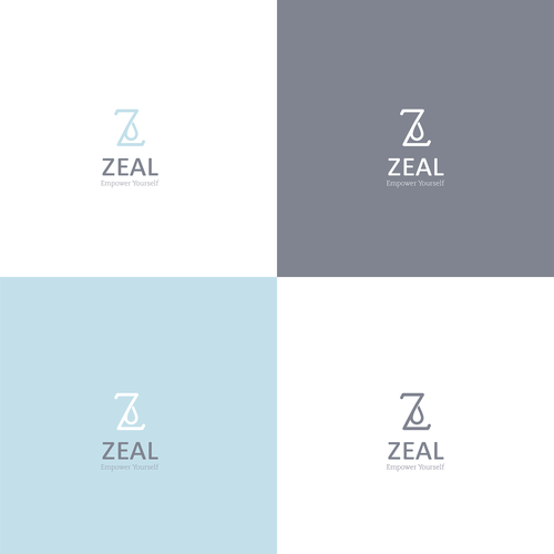 Water bottle design with the title 'Branding for Zeal'