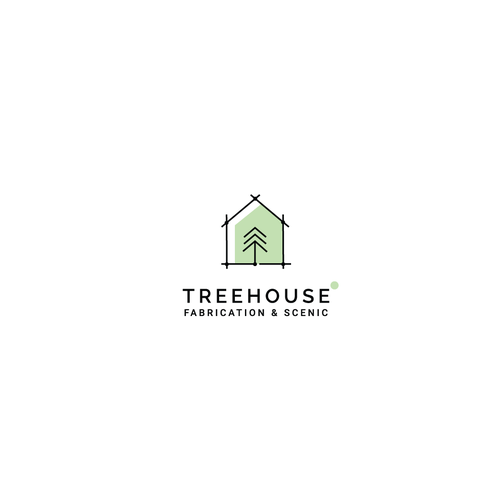 Tree house design with the title 'Logo concept for fabrication company'