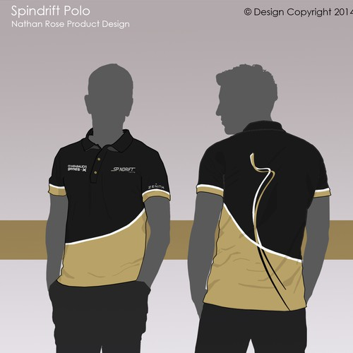 Polo shirt design with the title 'Spindrift Racing Polo '