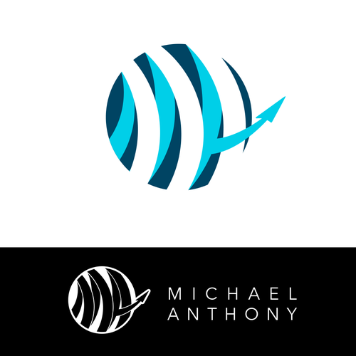 Sphere logo with the title 'Michael Anthony logo design'
