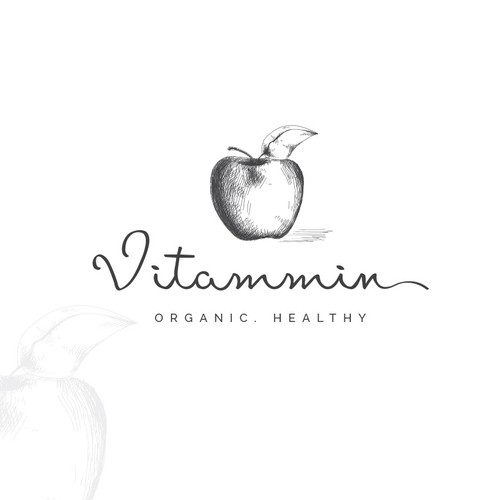 Apple tree logo with the title 'Logo for e-commerce site selling natural health products'