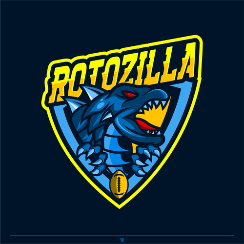 Godzilla logo with the title 'Rotozilla For Sport Logo'