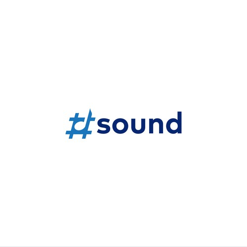 Music note design with the title 'Hashtag Sound Logo'