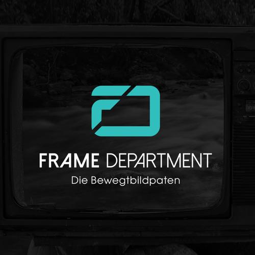 Filmmaker logo with the title 'Frame Department logo design'