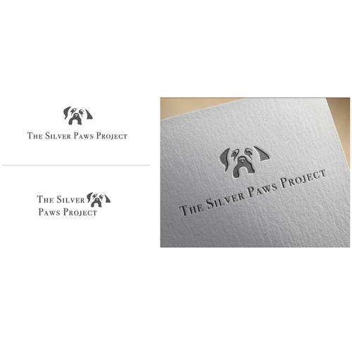 Project brand with the title 'Logo concept for The Silver Paws Project'