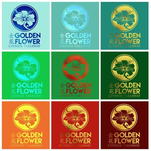 Oriental logo with the title 'Golden Flower'