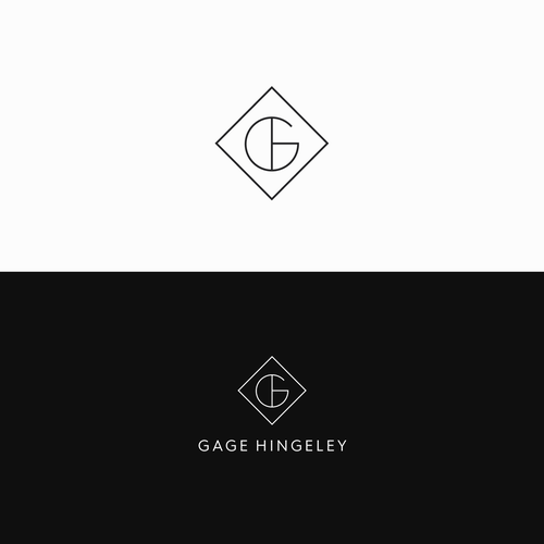 Minimal design with the title 'Gage Hingeley '