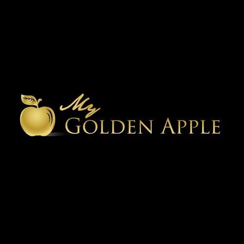 Apple logo with the title 'Logo for My Golden Apple'