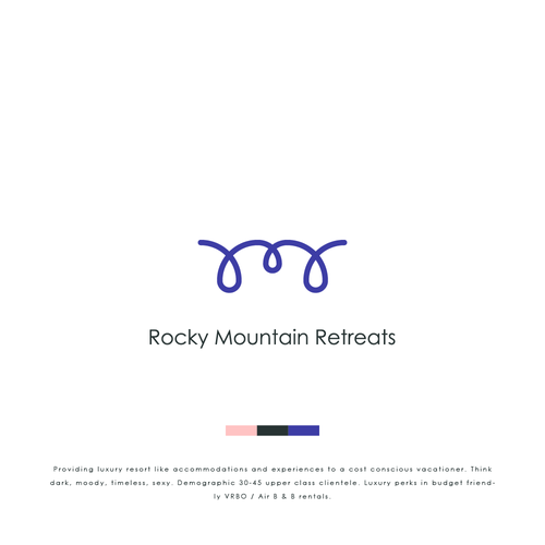 Resort brand with the title 'Logo Design for Rocky Mountain Retreats'