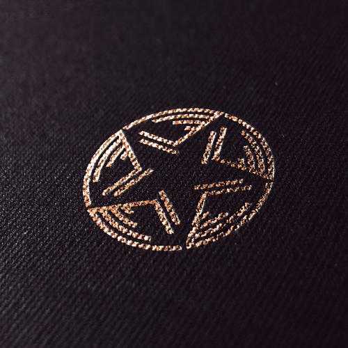 Wood circle logo with the title 'Logo design for VividMusicGroup'
