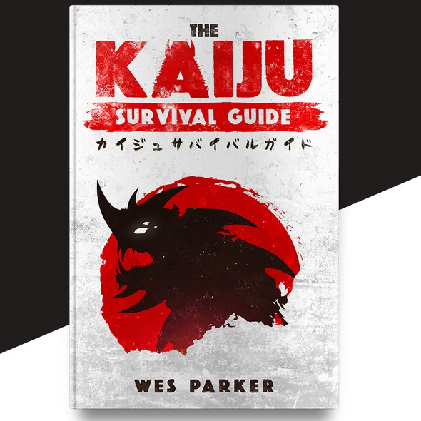 Japanese book cover with the title 'The Kaiju Survival Guide'