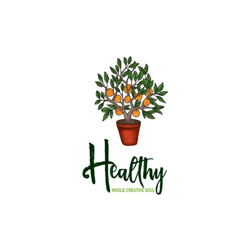 Pot logo with the title 'Healthy Whole Creative Soul'