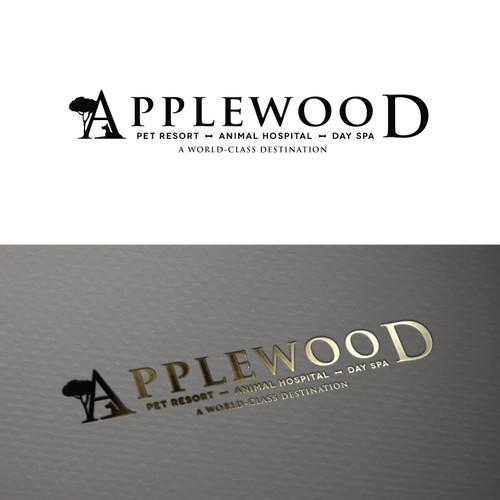 Hospital logo with the title 'Applewood Pet Resort & Animal Hospital'