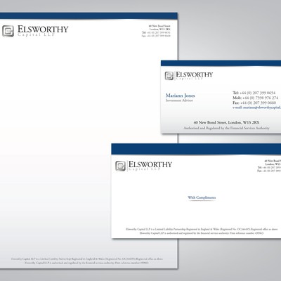 Elsworthy Capital LLP Stationary