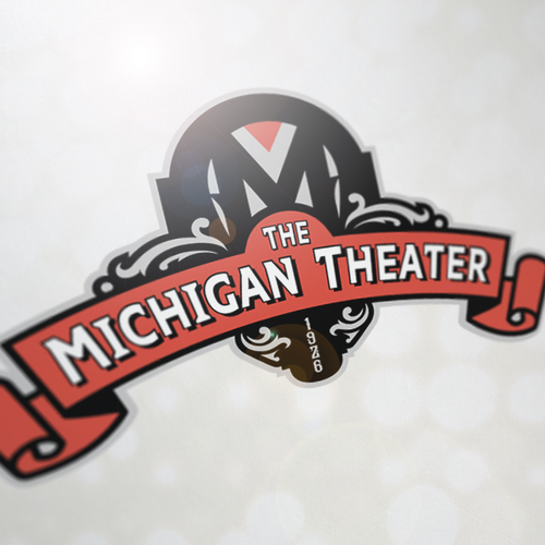 Theater logo with the title 'The Michigan Theater'