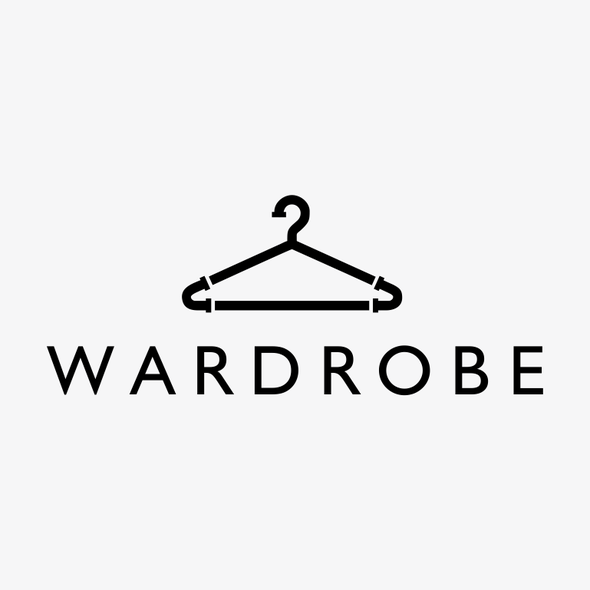 Wardrobe logo with the title 'Create an industrial style logo for the clothing boutique WARDROBE!'