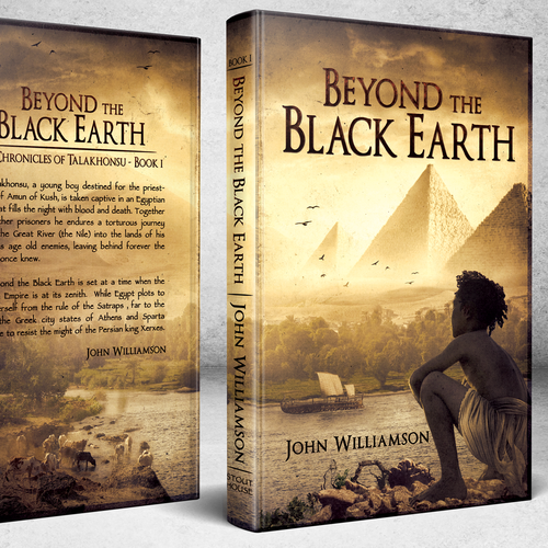 Historical book cover with the title 'Book Cover - Beyond The Black Earth'