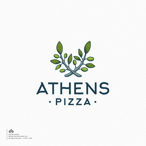 Greek logo with the title 'Greek Restaurant Logo'