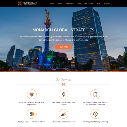 Global design with the title 'Web Design For International Business Consulting Firm'