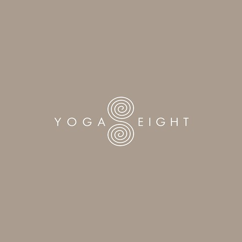 Number 8 logo with the title 'YOGA 8'