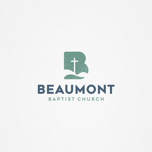 Heart and cross logo with the title 'Logo for Beaumont Baptist Church'