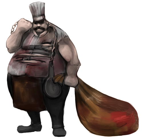"""Chef artwork with the title 'Character Design for """"Reich der Sünden""""'"""