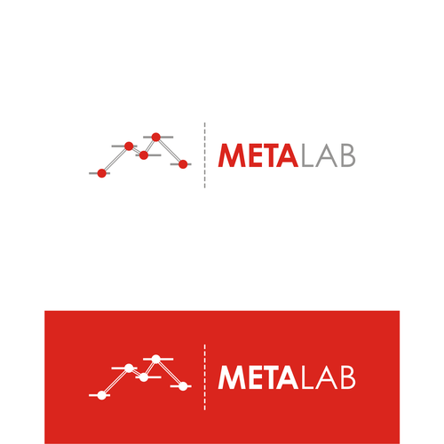 Scientist logo with the title 'METALAB LOGO'