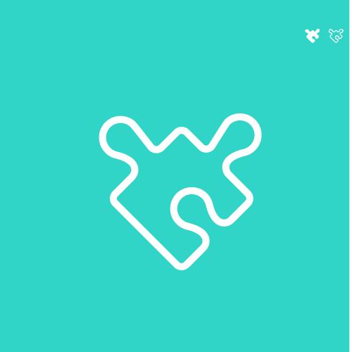 Favicon logo with the title 'Wasi logo design'