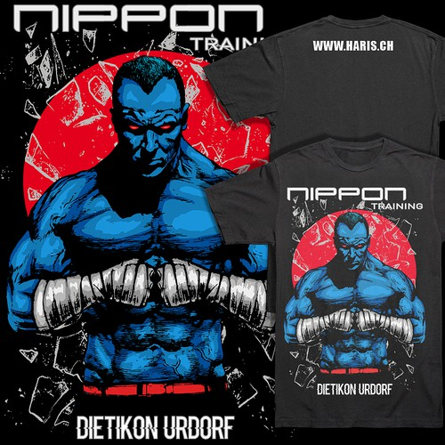 MMA t-shirt with the title 'Fighter T-shirt design for Nippon Training'