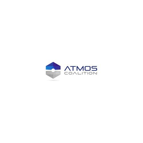 Astronomy logo with the title 'Geometric futuristic logo'
