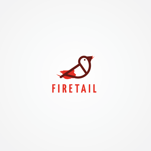Pen logo with the title 'minimal firetail bird logo for fashion company'